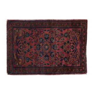 "Vintage Lilihan Rug Mat - 2'2"" X 3'2"" For Sale"
