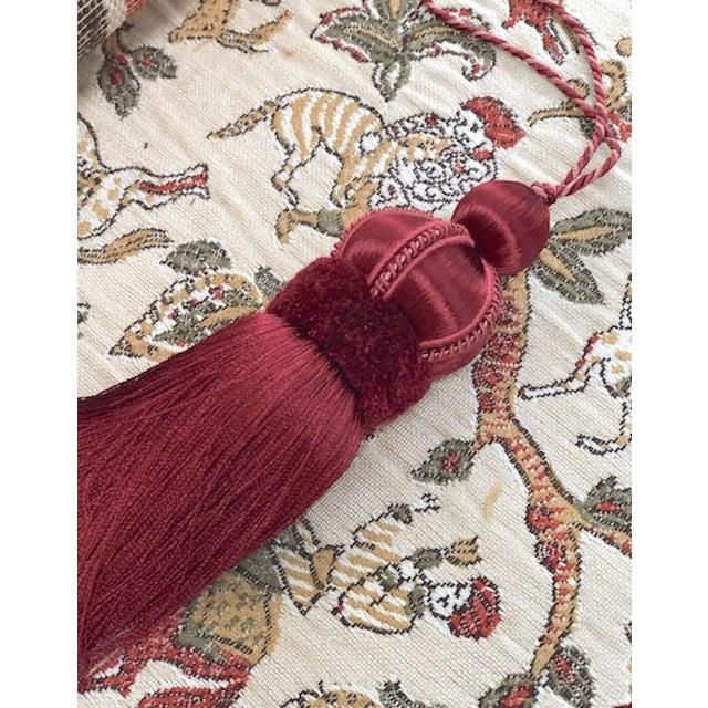 Velvet Ruche Rouge Key Tassel For Sale In New York - Image 6 of 10