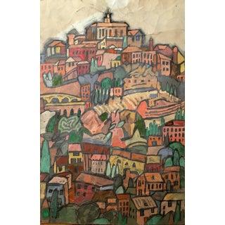 Tuscan Hillside Watercolor Painting