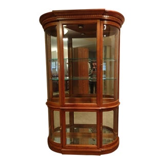 Traditional Pulaski Platinum Oak Curio Cabinet For Sale