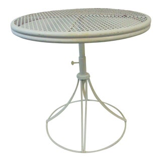 Homecrest Mid Century Wrought Iron Side Table For Sale