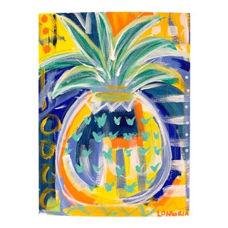 """""""Pineapple #5"""" Abstract Painting by Christina Longoria For Sale"""