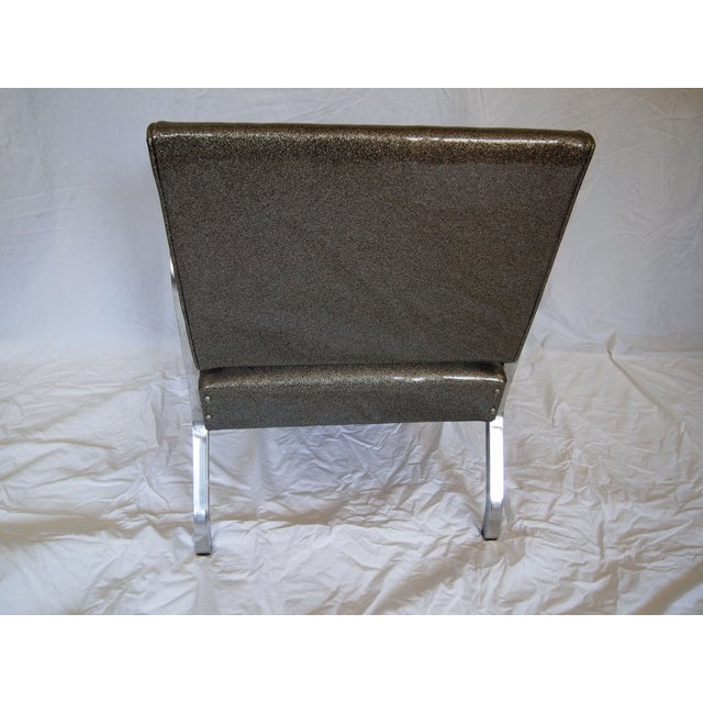 Chrome Chairs With Vinyl Seats - Pair For Sale - Image 5 of 5