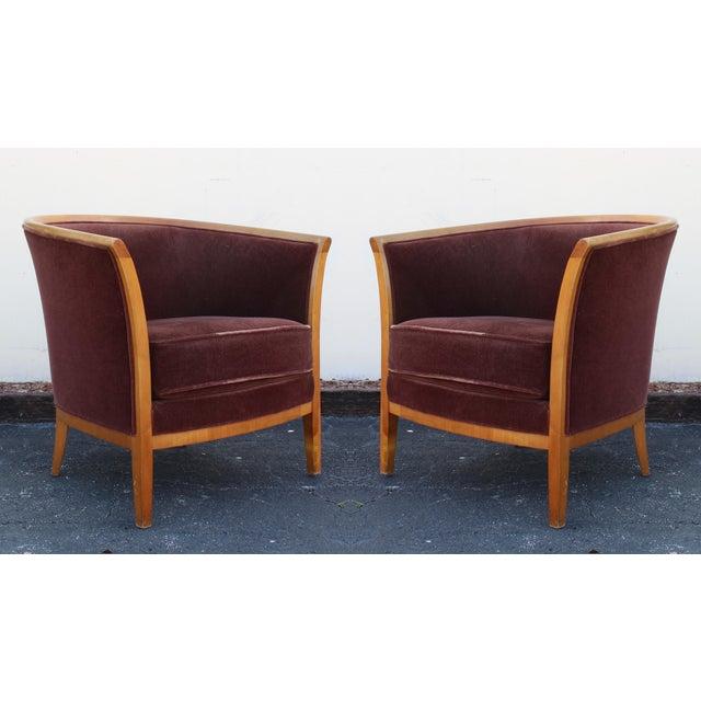 Vintage bernhardt club chairs a pair chairish