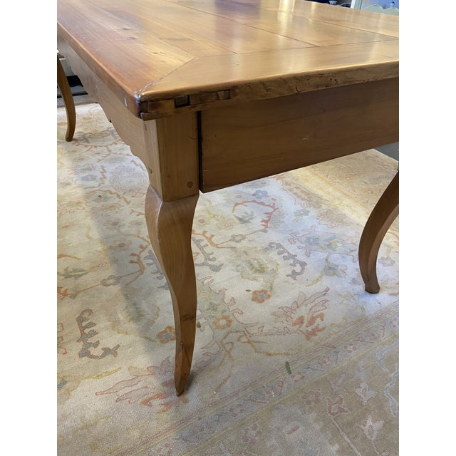 Antique French Country Handmade Cherry Farm Dining Table For Sale In Boston - Image 6 of 8
