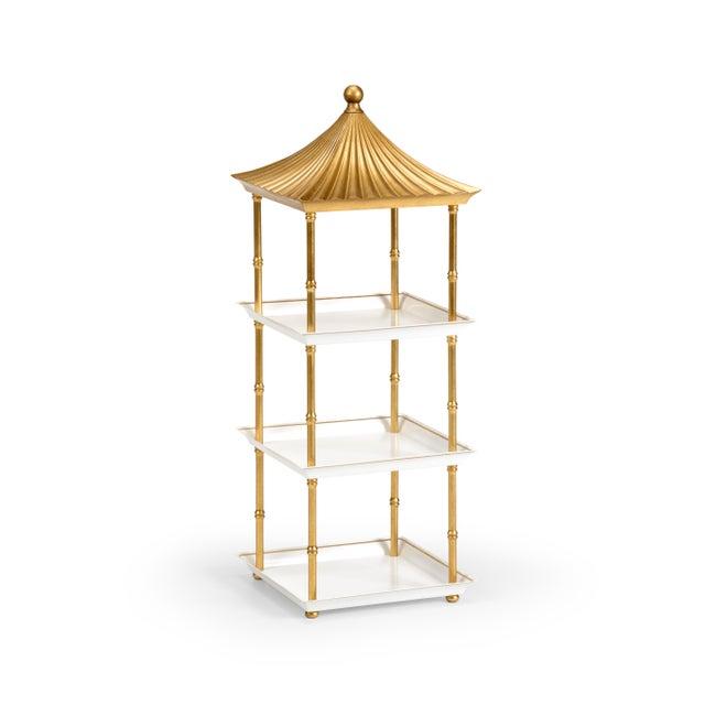 Contemporary Contemporary Gold Pagoda Shelf For Sale - Image 3 of 3
