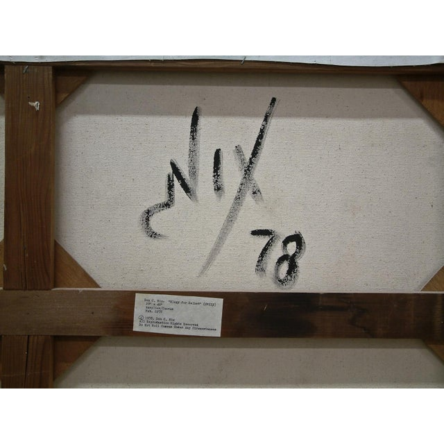 """Cream 1978 United States Contemporary Don C. Nix """"Elegy of Selket"""" (Xviii) For Sale - Image 8 of 10"""