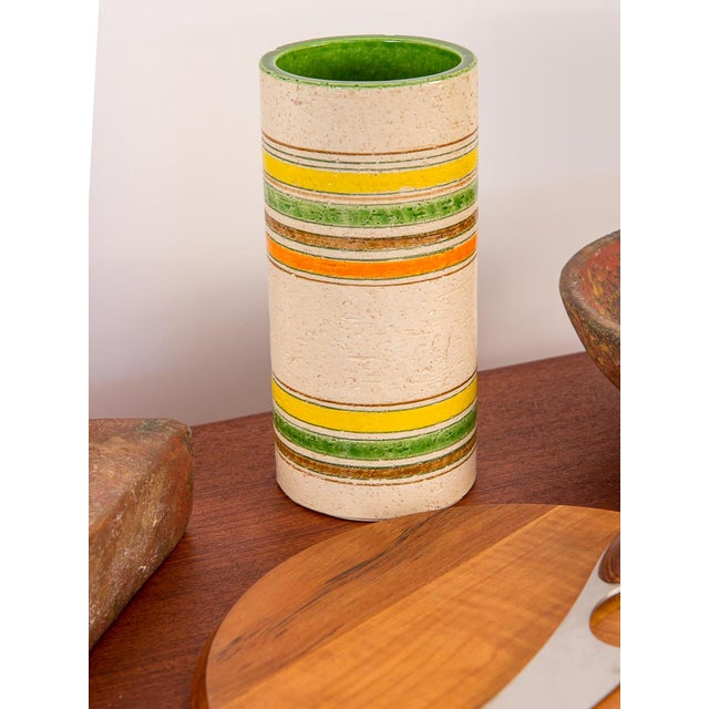 1960s Rosenthal Netter Striped Italian Vase for Bitossi For Sale - Image 5 of 7