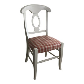 Pottery Barn Chair With Water Proof Plaid Upholstery - Set of 3