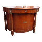 Image of Vintage Mid Century Empire Style Demilune Commode For Sale