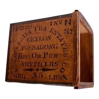 Vintage Salada Tea Chest / Crate For Sale