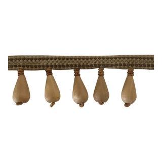 Wooden Beaded Tassels Decorative Fringe Trim For Sale