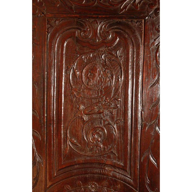 Brown Antique Louis XV Armoire For Sale - Image 8 of 10