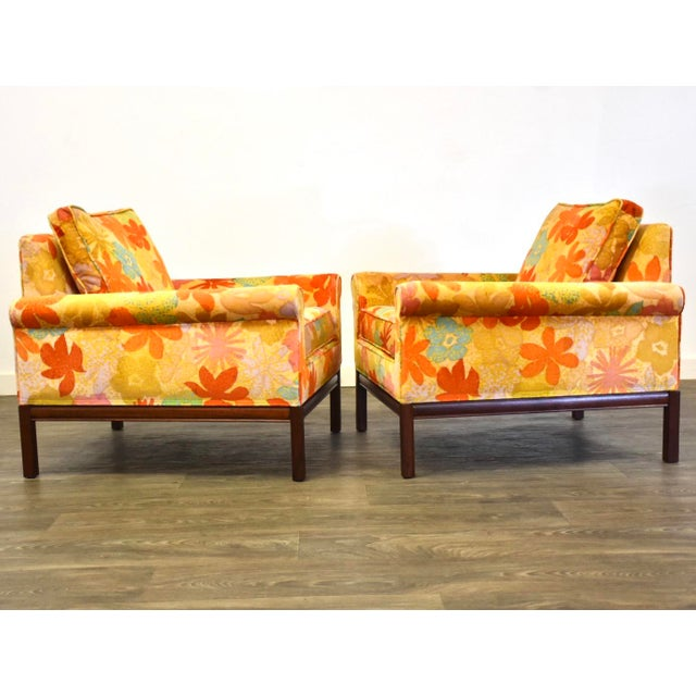 Mid Century Walnut Lounge Chairs - a Pair For Sale - Image 4 of 9