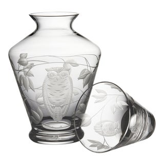 ARTEL Night Owl Bedside Decanter in Clear - 2 Pieces For Sale