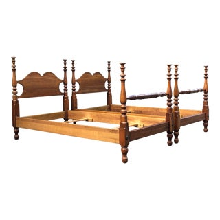 Stickley Vintage Solid Cherry Twin Beds- a Pair For Sale