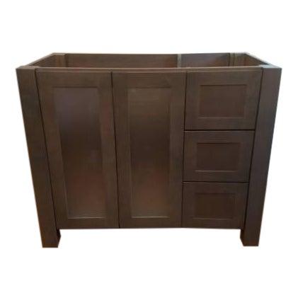 Solid Wood Grey Bathroom Vanity - Image 1 of 6