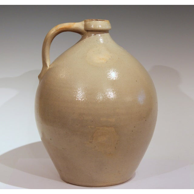 American Stoneware Jug Ovoid Antique Early 19th Century 3 Gallon Moonshine Country New England For Sale - Image 3 of 13