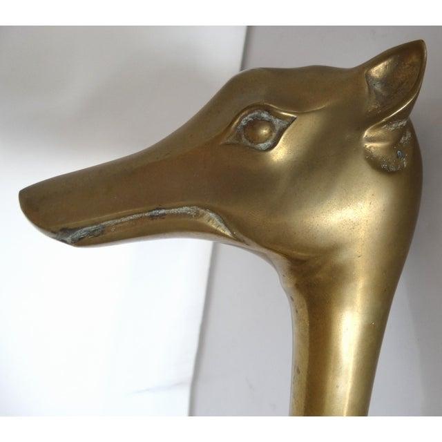 Brass Dog Septer Objet D'Art Paperweight - Image 6 of 6