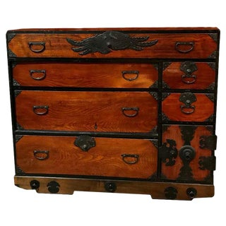 Japanese Cedar / Elm Tansu, Edo Period, Mid-18th Century For Sale