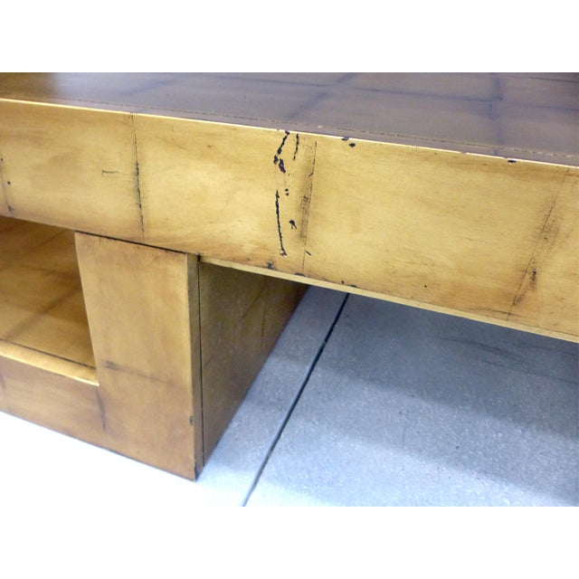 James Mont Style Gold Leaf Console For Sale - Image 7 of 9