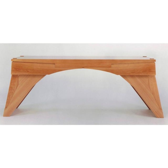 """""""Arch Bridge"""", Late 20th Century Constructivist Desk in Pear wood, Ed Weinberger For Sale - Image 10 of 10"""
