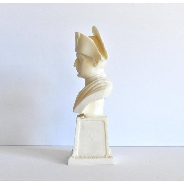 Vintage Italian Resin Napoleon Bust on Pedestal For Sale In San Francisco - Image 6 of 12