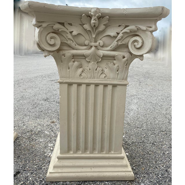 1980s Corinthian Acanthus Roman Dining Table Greek Table Base - 2 Pieces For Sale - Image 4 of 10