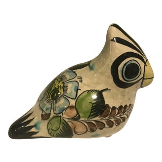 Vintage Tonalá Ceramic Dove Sculpture For Sale