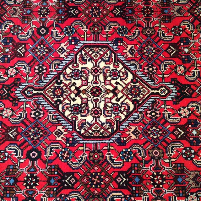 1950s 1950s Persian Handmade Village Carpet Rug 4′3″ × 6′11″ For Sale - Image 5 of 13