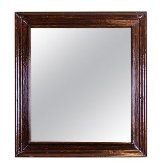 Mirror from the Interwar Period in an Oak Frame For Sale