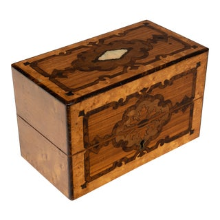 19th Century Antique French Marquetry Perfume Box For Sale