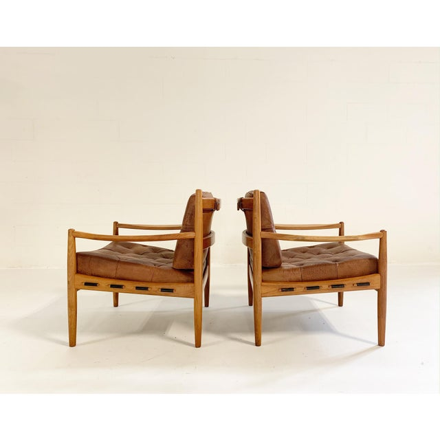 Ingemar Thillmark Lacko Buffalo Hide Lounge Chairs - a Pair For Sale - Image 4 of 8