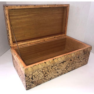 Fabulous Large Rectangular Carved Coconut Shell Box Preview