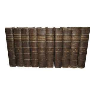 1868 Chambers Encyclopedia Collection - Set of 10