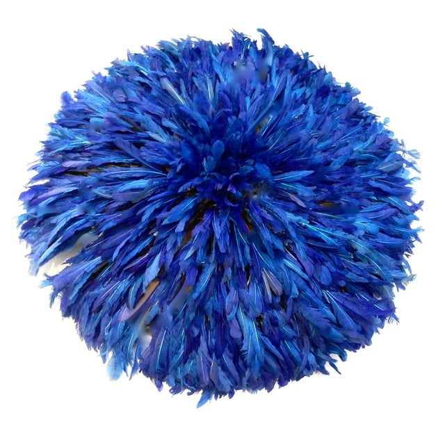 Juju Hat Cobalt Blue African Wall Hanging - Image 5 of 6
