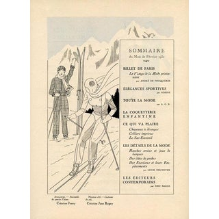 French Ski Fashions, 1930 For Sale