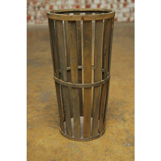 Tall Wooden Cellar Baskets-Set of 3 For Sale - Image 9 of 11
