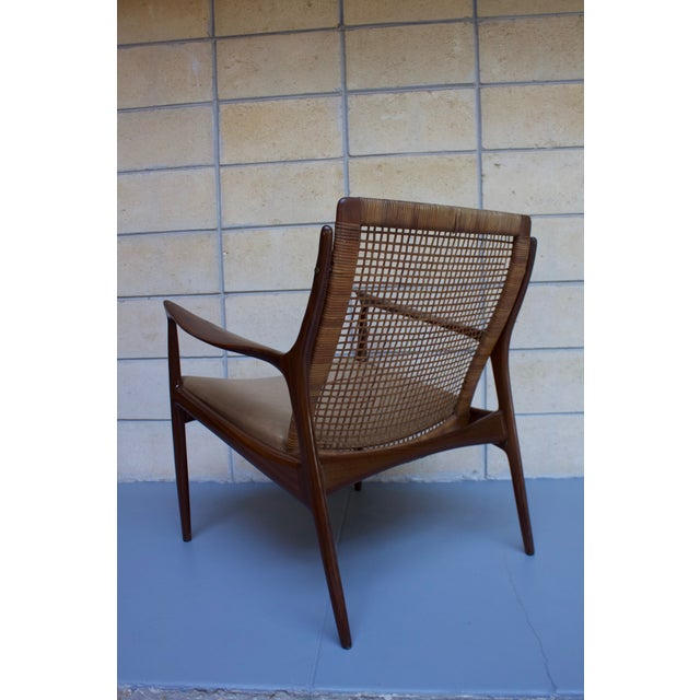 Kofod Larsen Cane Back Lounge Chair For Sale - Image 9 of 11