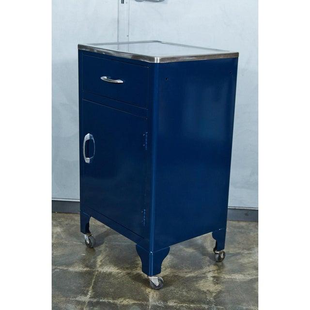 Industrial Blue FPI Industry 1964 Metal Cabinet For Sale - Image 3 of 6