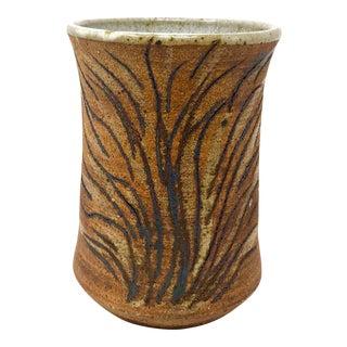 1974 Vintage Studio Pottery Vase by Lisa Aguilar, Signed For Sale