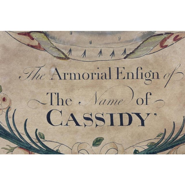 Paint Framed Coat of Arms for Cassidy For Sale - Image 7 of 8