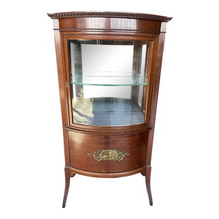 1920s French Mahogany and Glass Vitrine For Sale