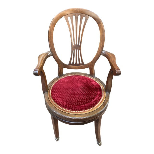 Late 18th Century French Directoire Swivel Desk Chair For Sale