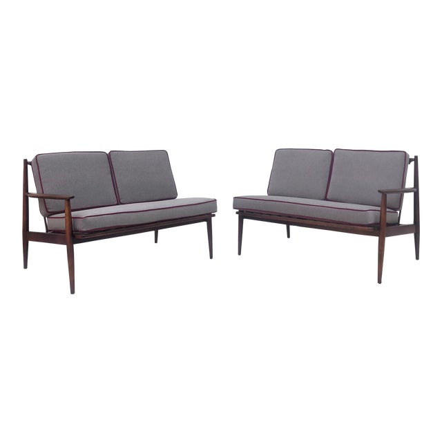 Mid-Century Modern Two Piece Sofa by Baumritter For Sale