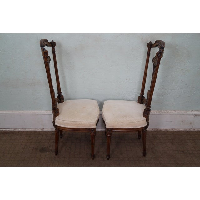 Karges Walnut French Style Walnut Dining Chair - 4 - Image 3 of 10
