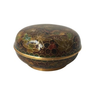 Cloisonne Lidded Dish For Sale