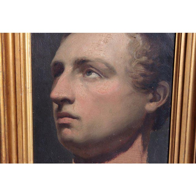 Gold Portrait of a Young Man by Willem Hendrik Schmidt (1809-1849) Dutch For Sale - Image 8 of 13