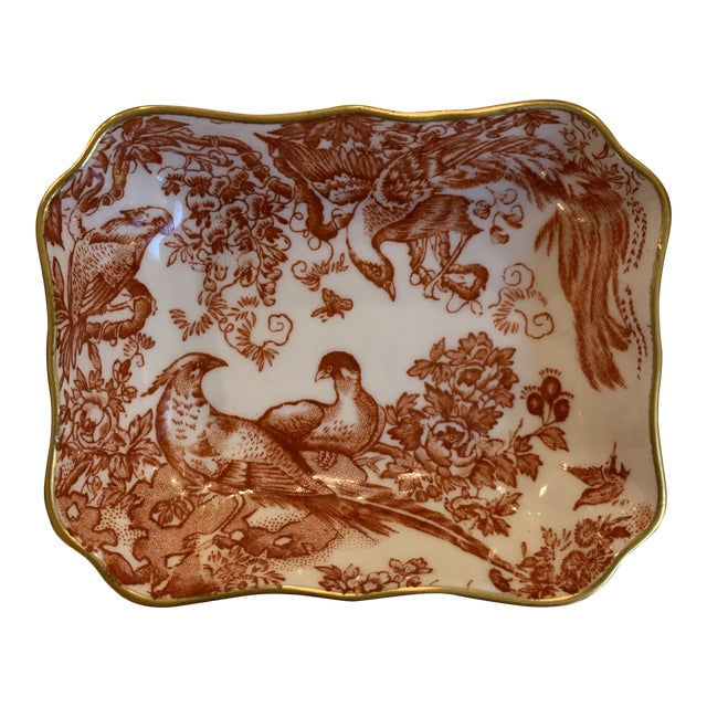 """1960s Royal Crown Derby """"Red Aves"""" Ring Dish For Sale"""