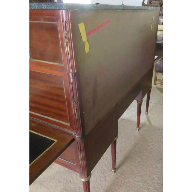 Gold Maison Jansen Directoire Style Cylinder Desk For Sale - Image 8 of 11